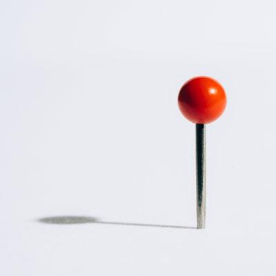 Single Red Pin